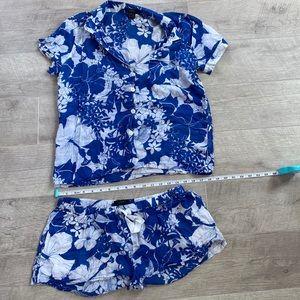 JCrew Hawaiian print pajama set